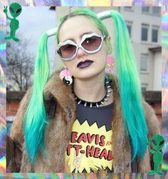 Neon mermaid hair