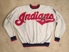 409e3d12 Vintage Cleveland Indians sweatshirt // VTG 90s Tribe crewneck // Indians  Big logo // Chief Wahoo // adult size XL