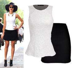 Chic en verano, blusa y falda a la venta en Liverpool.