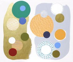 Original Art - Painting - Only dots 3 by Lucie Jirku, acrylic on canvas, 60x70cm, 2014