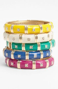 Sequin Colorblock Hinged Bangles