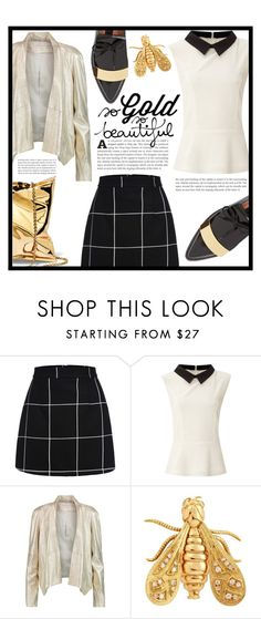 """""""~So gold, so beautiful~"""" by dolly-valkyrie ❤ liked on Polyvore featuring Glamorous, Donna Karan and Chaumet"""