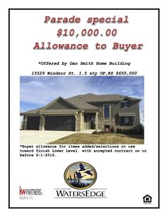 10k Parade Special for the Spring parade of homes in Overland Park KS.