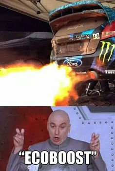 Who said that EcoBoost is realy Eco :D ? Read more about Ford Focus ST: www. Car Jokes, Funny Car Memes, Car Humor, 3008 Peugeot, Peugeot 206, Ford Fiesta Modified, Ford Motorsport, Ford Rs, Car Throttle