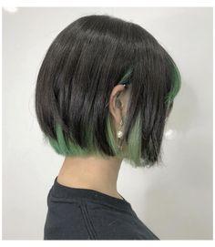 Hidden Hair Color, Cool Hair Color, Ash Green Hair Color, Short Green Hair, Green Ash, Hair Color Streaks, Hair Dye Colors, Cut My Hair, Hair Cuts