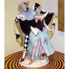 Royal Dux Harlequin & Columbine Figurine