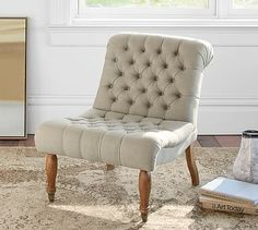 Carolyn Tufted Slipper Chair #potterybarn
