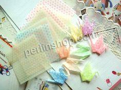 Origami Papier, Quadrat, mit einem Muster von Herzen & glänzend, gemischte Farben, 100x100mm, 20Packe/Gruppe, 10Stücke/Pack, verkauft von Gr...