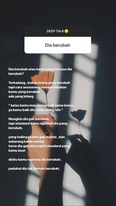 Trendy Quotes Indonesia Baper 66 ideas Deep quotes on art to make you think Words Text Quotes, Mood Quotes, Daily Quotes, Life Quotes, Funny Quotes, Cinta Quotes, Quotes Galau, Reminder Quotes, Self Reminder