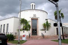 The Miami Beach U.S. Post Office, located at 1300 Washington Avenue, was built to the design of Howard L. Cheney in 1937.