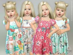 The Sims Resource: Toddler Dresses Collection P19 by lillka • Sims 4 Downloads