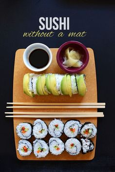 Quick and Easy sushi without a Mat   minimalistbaker.com #vegan #glutenfree
