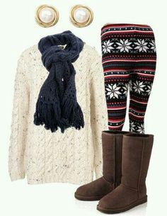 Cute outfit minus boots and earrings.