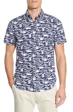 Bonobos 'Surf Zone Riviera' Slim Fit Print Short Sleeve Woven Shirt available at #Nordstrom