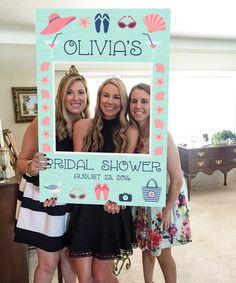 Bridal Shower Photo Prop - Beach Photo Prop - PDF - Bachelorette Photo Prop - Girls Weekend - Beach Wedding - Printed Option Available