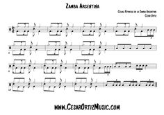 Zamba Argentina, Células Rítmicas | Main Patterns for Drumset