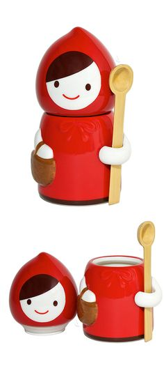 Little red riding hood canister // cute as a sugar jar