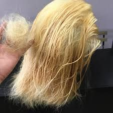 Bleached Hair That S Dry And Damaged