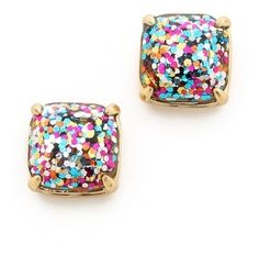 Kate Spade New York Small Square Stud Earrings. Perfect party earrings while maintaining a more classic look.