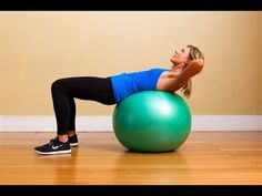 Stability Ball Ab Workout Lose Belly Fat & Get A Flat Stomach - YouTube