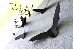 Paper bats ** This was brilliant. It was a cheap and impressive decoration for Halloween and I saved them for next year.