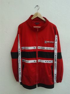 Vintage 90s Hip-Hop Vibes Karl Kani Sport Embroidered Logo Stripes Spell  Out Jacket Size 96d4ba050adb