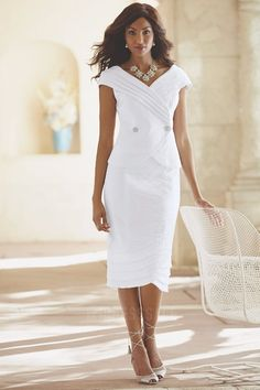 Sheath/Column V-neck Tea-length Taffeta Mother of the Bride Dress