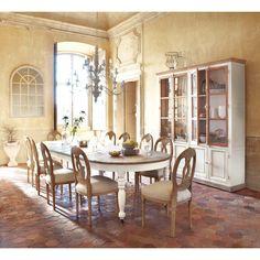 salle à manger - bois - moulures - biblliothèque - classique ...