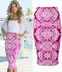 Celeb Inspired Puff Print Bodycon Skirt Body Con Skirt, Cover Up, Celebs, Inspired, Womens Fashion, Skirts, Inspiration, Dresses, Celebrities