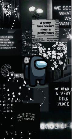 Among Us (Black) Wallpaper
