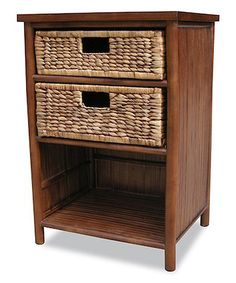 Brown Two-Drawer Bamboo Cabinet #zulily #zulilyfinds