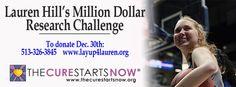 Million dollar research challenge Lauren Hill, Beacon Of Hope, Interview, Challenges