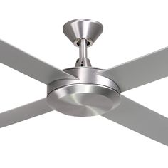 """Hunter Pacific Eco 2 52"""" Ceiling Fan Moulded 4 Blade Brushed Aluminium"""