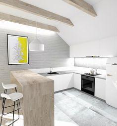 biała kuchnia, szara kuchnia, kuchnia z drewnem, 2 piętro, 1