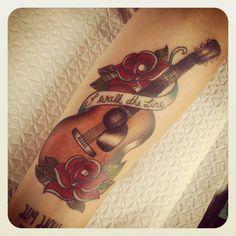 "guitar tattoo ""walk the line"""