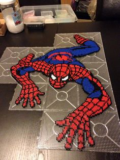 Spiderman hama perler beads by Malue Lindgreen