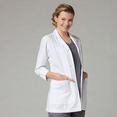 Maevn Women's 3/4 Sleeve Lab Coat - 7126
