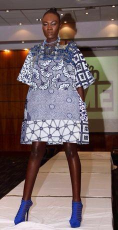 Mixte Carla impression boho robe Ankara Sosome