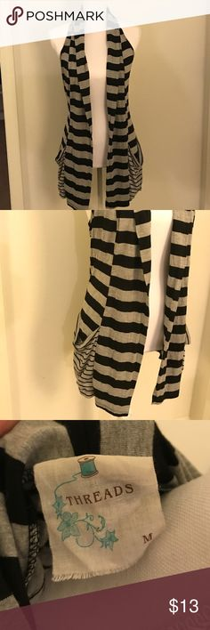 Boutique Vest Women's Medium Very cute light vest/cardigan type. THREADS Jackets & Coats Vests