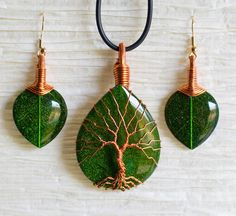 Discarded Copper Wire Twisted into Trees to Beautifully Frame Dazzling Stone…