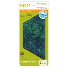 "GO! Half Hexagon-4 1/2"" Sides (4 1/4"" Finished) (55437)"
