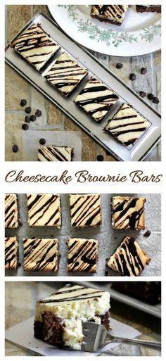 Homemade cheesecake brownie bars #browniebottom #cheesecakebars #richdesserts