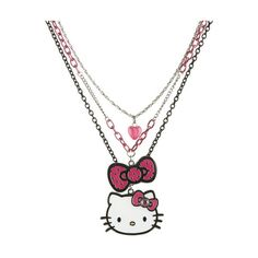 Tiered Hello Kitty Necklace - Teen Clothing by Wet Seal ($15) ❤ liked on Polyvore
