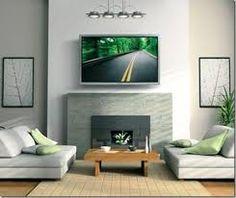 above fireplace tv ideas - Google Search