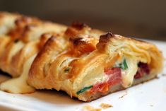 Vintage Kitchen Notes: Chorizo and Mozzarella Danish Braid