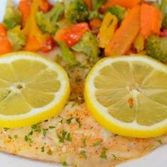 I love this recipe...i make it without the veggies...season to your liking but its so on point!!! Healthier Easy Baked Tilapia Allrecipes.com