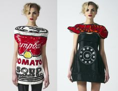 sequin warhol and dali dresses