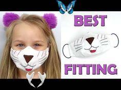 Kids face mask | DIY face mask all sizes | Best fitting mask  <br> Funny Face Mask, Diy Face Mask, Diy Masque, Face Masks For Kids, Child Face, Pattern Pictures, Mask Design, Mask Making, Sewing Patterns Free