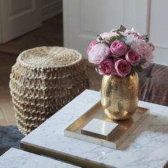 Brass & Marble Coffeetable by Magdalena Tekieli