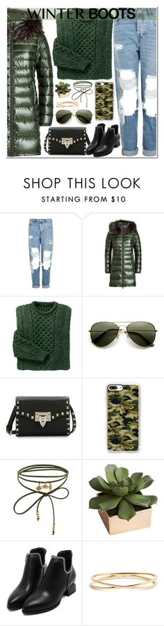 """""""So Cozy: Winter Boots"""" by itsybitsy62 ❤ liked on Polyvore featuring Topshop, Duvetica, Valentino, Casetify, Accessorize, CB2, Nadri and winterboots"""